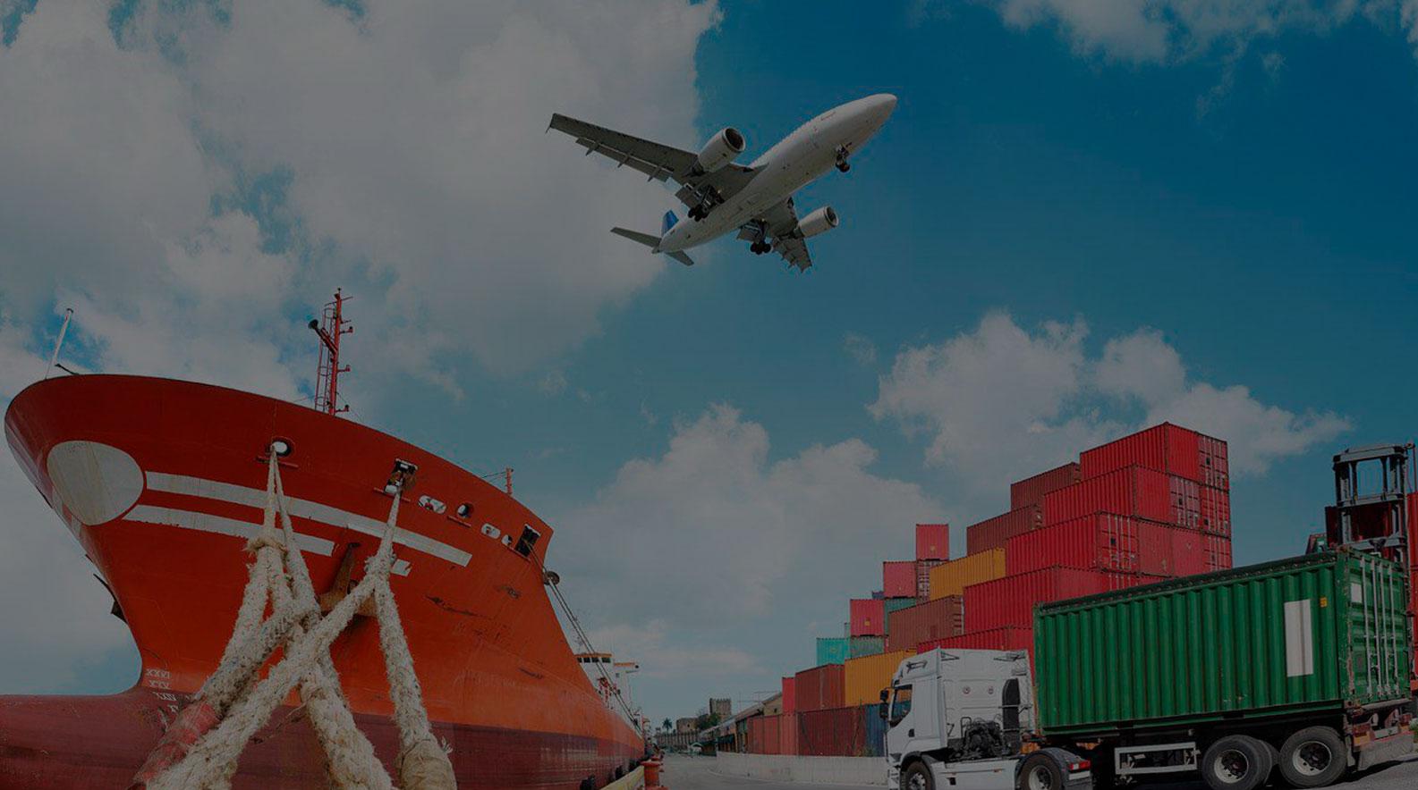 Transporte de carga Aérea, Marítima y Terrestre